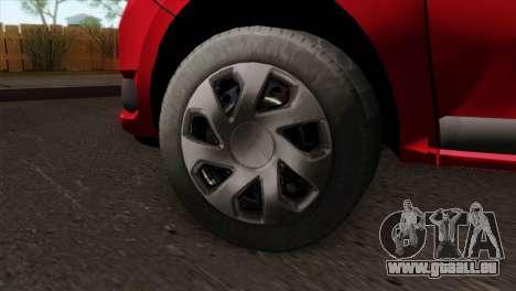 Dacia Logan MCV 2013 HQLM für GTA San Andreas zurück linke Ansicht