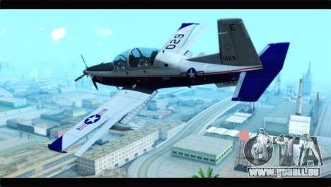 Beechcraft T-6 Texan II  United States Navy pour GTA San Andreas laissé vue