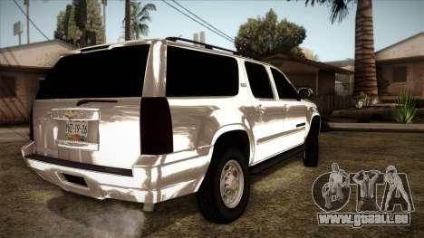 Chevrolet Suburban Plateada pour GTA San Andreas laissé vue