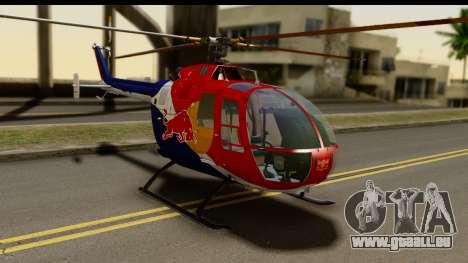 MBB Bo-105 Red Bull für GTA San Andreas