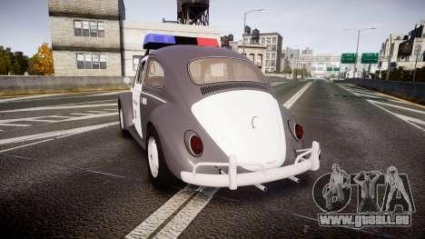 Volkswagen Fusca 1980 Military Police Sao Paulo für GTA 4 hinten links Ansicht