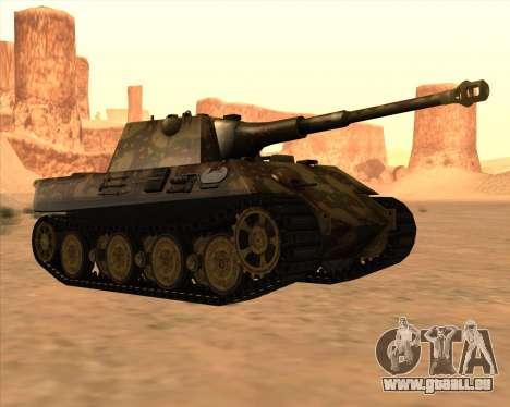 Pz.Kpfw. V Panther II Desert Camo für GTA San Andreas Rückansicht