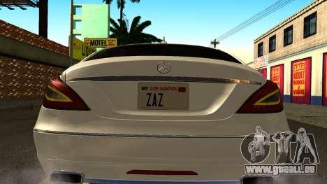 Mercedes-Benz CLS 350 2011 für GTA San Andreas Innenansicht