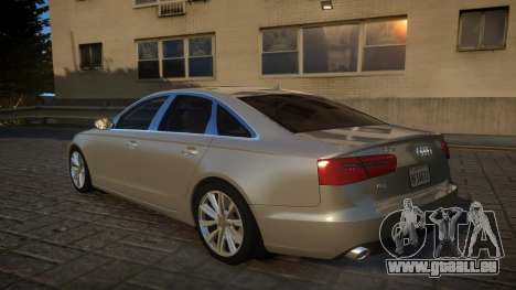 Audi A6 2012 v1.0 pour GTA 4 Vue arrière de la gauche