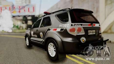Toyota Hilux SW4 2014 ROTA pour GTA San Andreas vue arrière