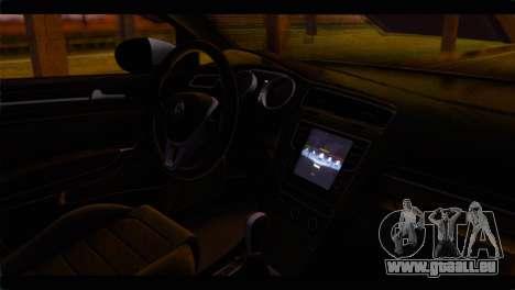 Volkswagen Golf 7 pour GTA San Andreas vue de droite
