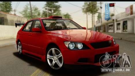 Lexus IS300 Tunable pour GTA San Andreas salon