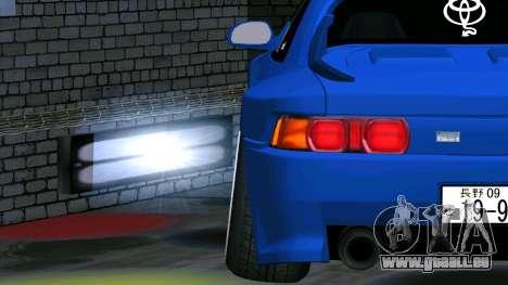 Toyota MR2 für GTA San Andreas Rückansicht