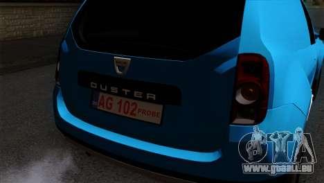 Dacia Duster Van pour GTA San Andreas vue arrière