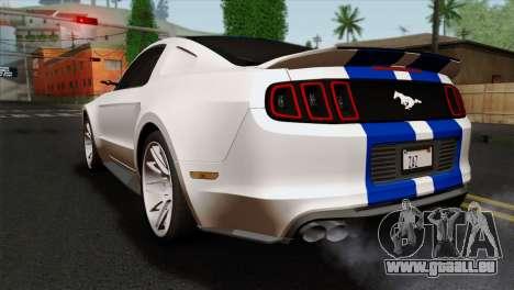 Ford Shelby 2014 pour GTA San Andreas laissé vue