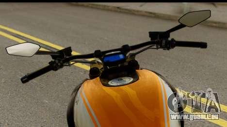 Ducati Diavel 2012 pour GTA San Andreas sur la vue arrière gauche