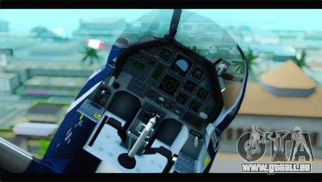 Beechcraft T-6 Texan II Royal Canadian Air Force pour GTA San Andreas vue de droite