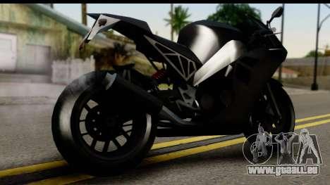 GTA 5 Carbon RS pour GTA San Andreas laissé vue