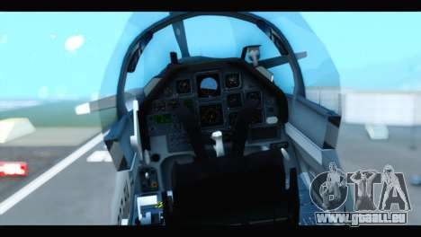 Beechcraft T-6 Texan II US Air Force 3 für GTA San Andreas Rückansicht