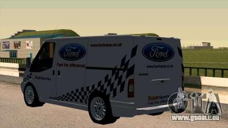 Ford Transit für GTA San Andreas zurück linke Ansicht