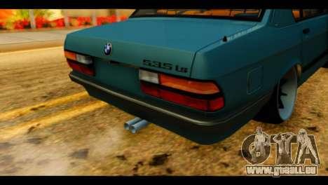 BMW 535is pour GTA San Andreas vue arrière
