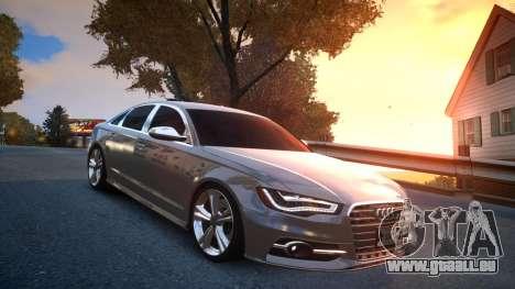 Audi S6 v1.0 2013 für GTA 4 Rückansicht