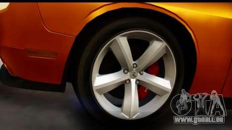 Dodge Challenger SRT8 2009 für GTA San Andreas Rückansicht