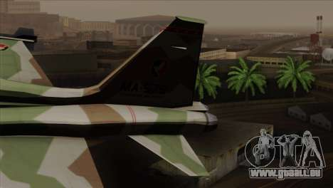 Northrop F-5 Estovakian Air Force pour GTA San Andreas sur la vue arrière gauche