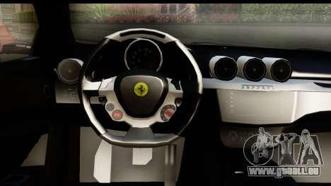 NFS Rivals Ferrari FF für GTA San Andreas Innenansicht