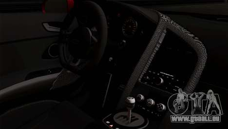 Audi R8 v2 pour GTA San Andreas vue de droite