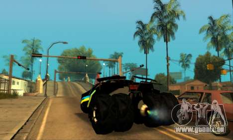 The Tumbler UA Style pour GTA San Andreas laissé vue