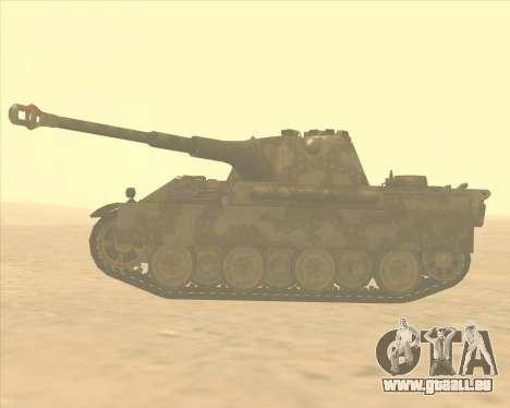 Pz.Kpfw. V Panther II Desert Camo pour GTA San Andreas laissé vue