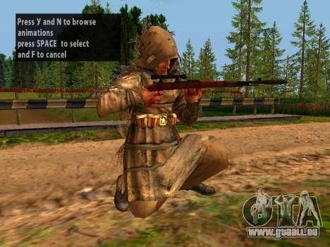 Soviétique Sniper pour GTA San Andreas neuvième écran
