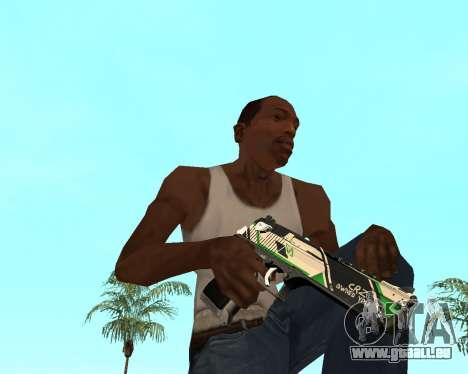 Green Pack Asiimov CS:GO für GTA San Andreas siebten Screenshot