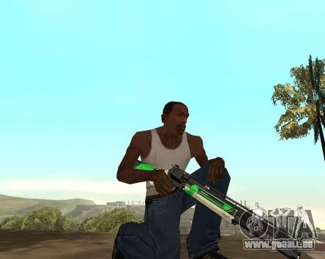 Green Pack Asiimov CS:GO pour GTA San Andreas cinquième écran
