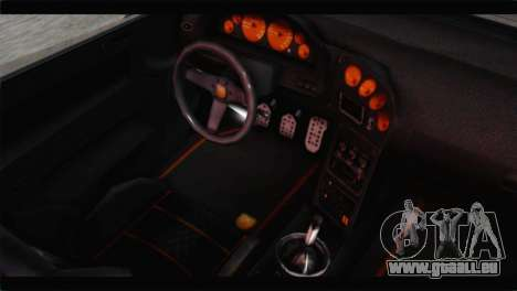 GTA 5 Pegassi Zentorno Spider für GTA San Andreas Rückansicht