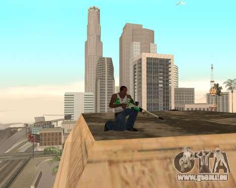 Green Pack Asiimov CS:GO pour GTA San Andreas quatrième écran