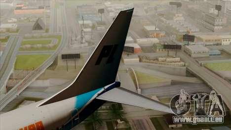 Boeing B737-800 Pilot Life Boeing Merge pour GTA San Andreas sur la vue arrière gauche