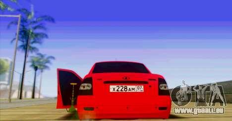 VAZ 2170 LE БПАN pour GTA San Andreas sur la vue arrière gauche