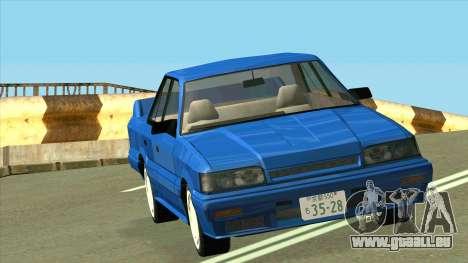 Nissan Skyline R31 pour GTA San Andreas vue arrière