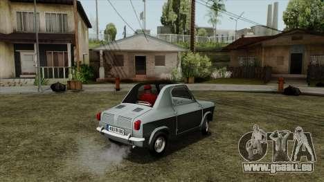 Vespa 400 für GTA San Andreas linke Ansicht