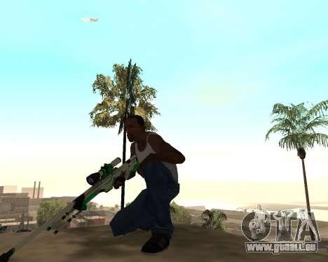 Green Pack Asiimov CS:GO pour GTA San Andreas troisième écran