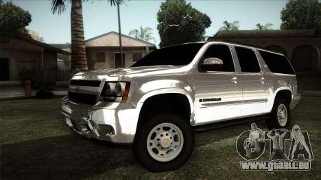 Chevrolet Suburban Plateada pour GTA San Andreas