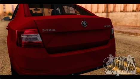 Skoda Octavia für GTA San Andreas Rückansicht