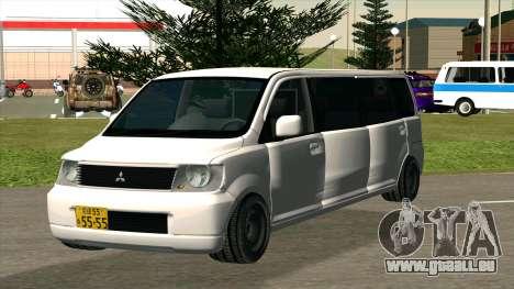 Mitsubishi EK Wagon Limo pour GTA San Andreas vue arrière