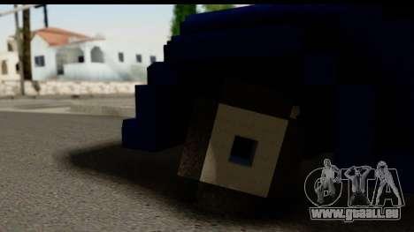 Minecraft Car pour GTA San Andreas sur la vue arrière gauche