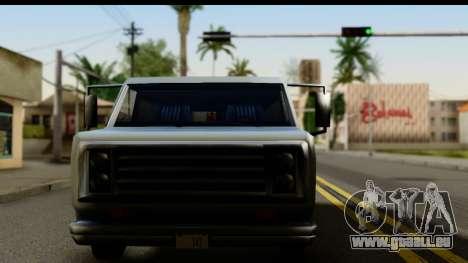 Burney Van pour GTA San Andreas sur la vue arrière gauche