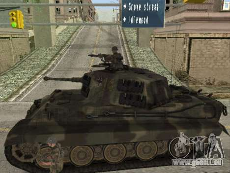 Panzerkampfwagen Tiger II pour GTA San Andreas vue arrière