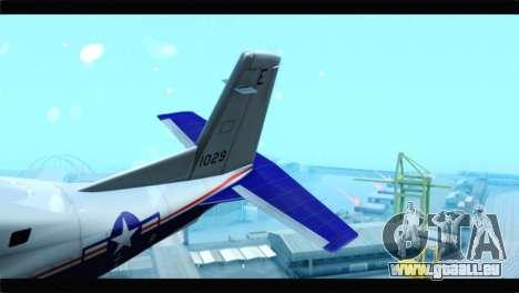 Beechcraft T-6 Texan II  United States Navy für GTA San Andreas zurück linke Ansicht