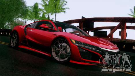Acura NSX 2016 v1.0 JAP Plate pour GTA San Andreas