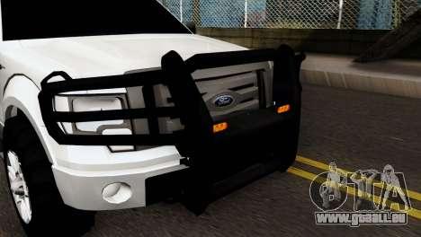 Ford F-150 4X4 Off Road für GTA San Andreas zurück linke Ansicht