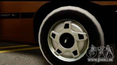 Chevrolet Kadett SL v2.0 pour GTA San Andreas sur la vue arrière gauche