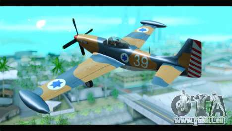 F-51D Israeli Air Force für GTA San Andreas linke Ansicht