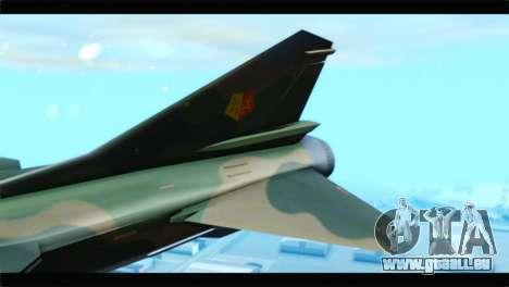 MIG-23ML Yuktobanian Air Force pour GTA San Andreas sur la vue arrière gauche