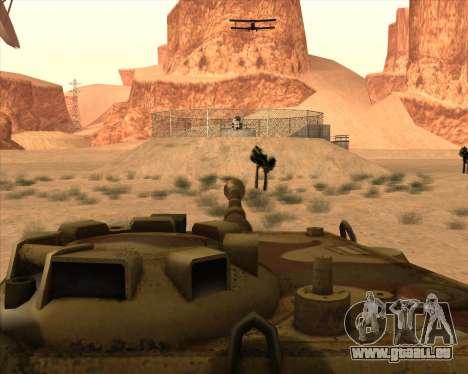 Pz.Kpfw. V Panther II Desert Camo pour GTA San Andreas vue de dessus